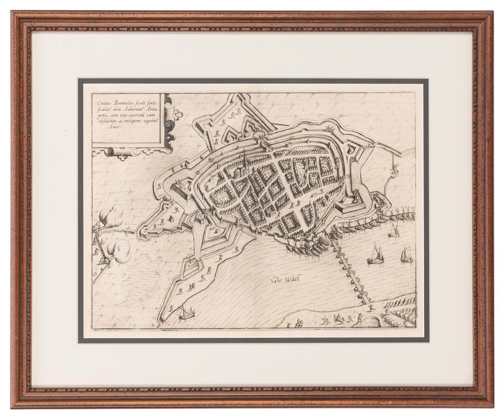 [MAP]. GUICCIARDINI, LODOVICO. CIVITAS BOMMELIA. [AMSTERDAM...