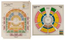 [Bertram Mills Circus] Eight Bertram Mills Seating Charts/A...