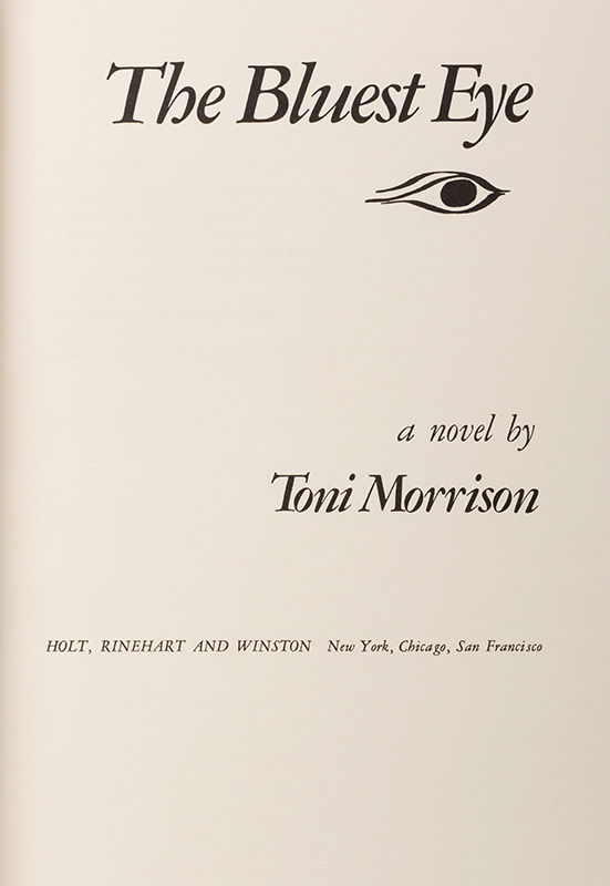 an overview of the bluest eye by toni morisson The bluest eye has 127,634 ratings and 5,443 reviews samadrita said: just a few days ago i happened to have a conversation with someone (quite a 'well-r.