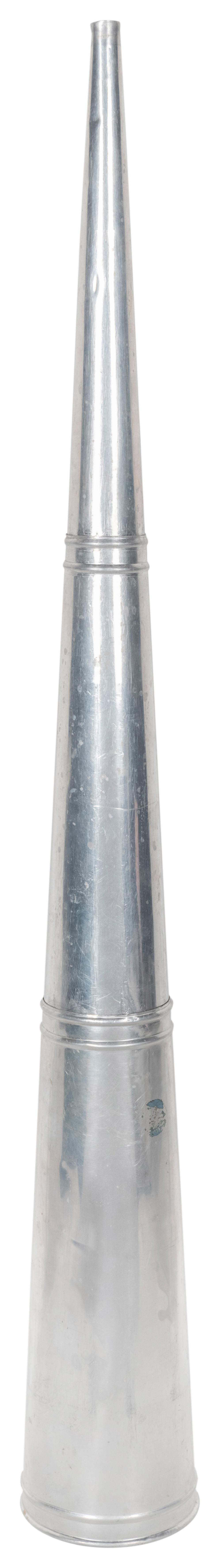 SPIRIT TRUMPET. CIRCA 1920. COLLAPSIBLE TRUMPET USED TO AMP...