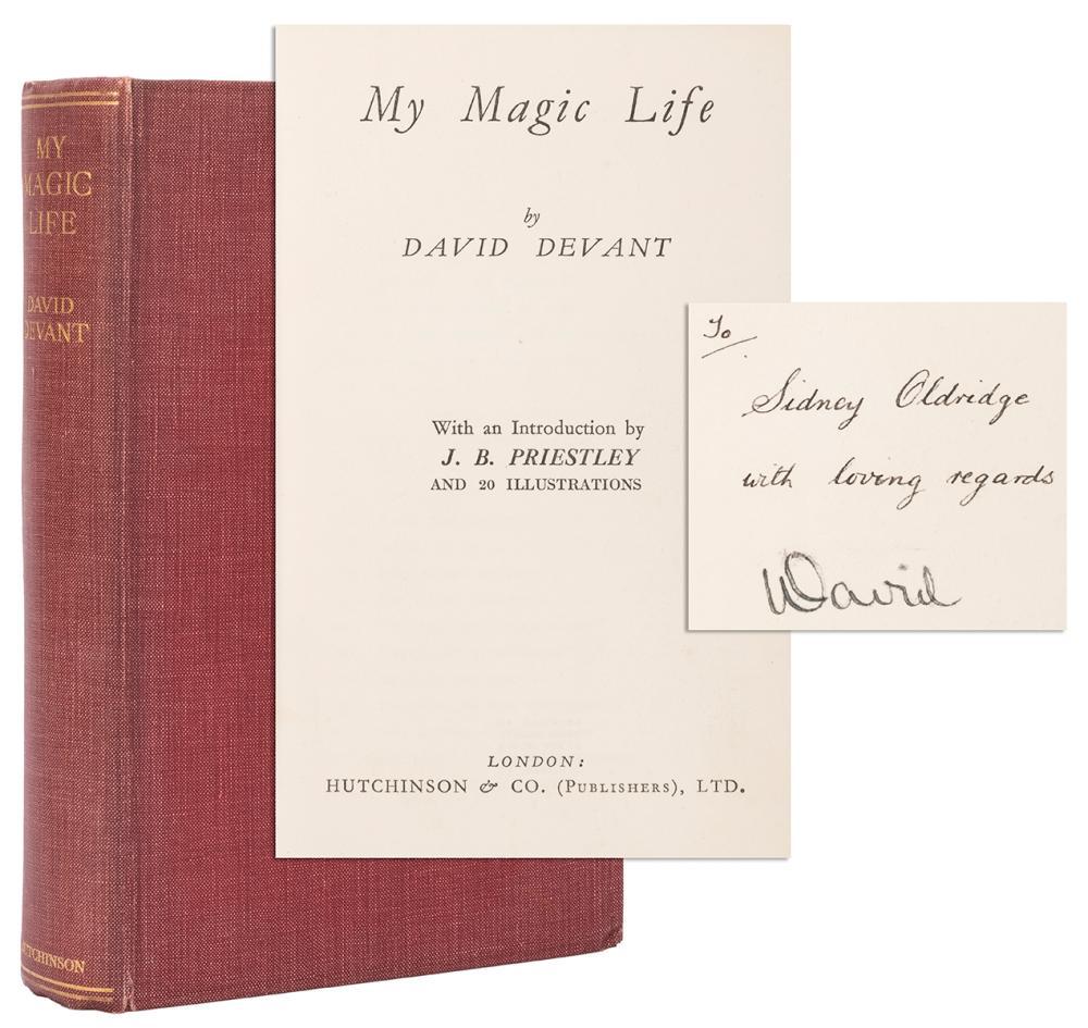 DEVANT, DAVID. MY MAGIC LIFE. LONDON: HUTCHINSON & CO., 193...