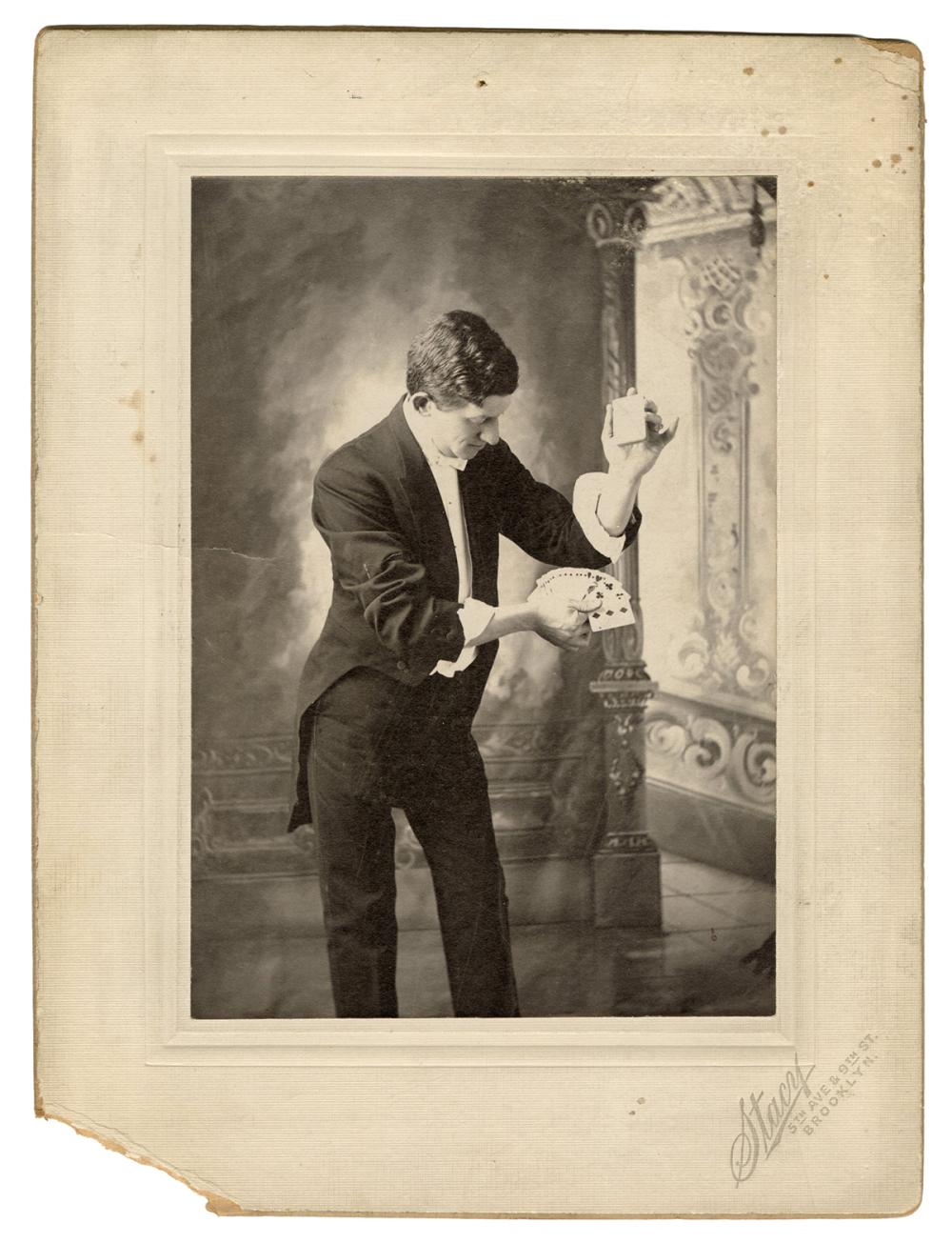 LEIPZIG, NATE (NATHAN LEIPZIGER). CABINET CARD PORTRAIT OF ...
