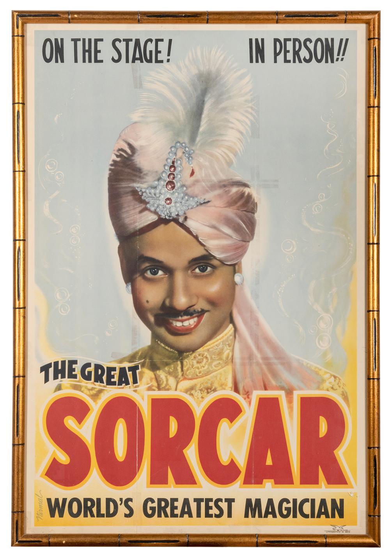 SORCAR, P.C. THE GREAT SORCAR. INDIA: NIRMAL, CA. 1950. BUS...