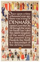 Kings of Denmark. Vintage Travel Poster.