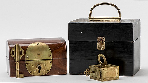 Prediction Chest. Tulsa: Charles Stillwell, ca. 1975. The prediction of a dayÍs headlines, or any other future event, is found inside a small brass box locked inside a sturdy hardwood chest that has been out of the possession of the magician for