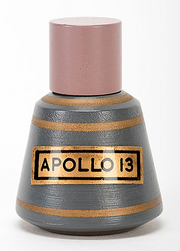 Apollo 13. Holland: Eddy Taytelbuam, ca. 1969. Hand-painted miniature model of the Apollo 13 spaceship capsule, which vanishes from the magicianÍs hand. 1 _î tall. Wooden, with finely made wooden gimmick. Fine.