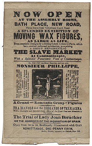 [Phillippe, Monsieur (Jacque Noe Talon) _ Imitator] Handbill for Mr. Kenney, Assistant of Phillippe. [London]: Dailey, mid-eighteenth century. Pictorial letterpress handbill for Kenney the Great Magician, ñlate withî Phillippe, whose name is
