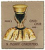 Soo, Chung Ling (William E. Robinson). Christmas Card Inscribed and Signed by Chung Ling Soo. A 1902 Christmas card bearing a die-cut ñChinamanî whose head folds back to reveal a cup of tea and lines of verse imploring the recipient to visit the