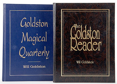 Goldston, Will. Goldston Magical Quarterly and Goldston Reader. CollectorsÍ Workshop, 1990/92. Blue and black cloth. Illustrated. 4tos. The latter volume torn at head of spine, else very good.