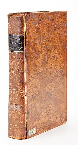 Henry, William. An Epitome of Experimental Chemistry, in Three Parts. London: J. Johnson, 1808. Fifth Edition, ñillustrated by plates, engraved by Lowry.î Contemporary mottled full calf, gilt spine compartments, morocco title. Illustrated with