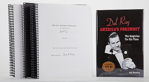 Moehring, John. Del Ray: AmericaÍs Foremost. Baldwin, Escher, and Spooner, 2009/10. Three vols., including the co-publisherÍs copy, inscribed and signed on the title page by the author and fellow publishers. Illustrated. 8vo. DVD enclosed. Together