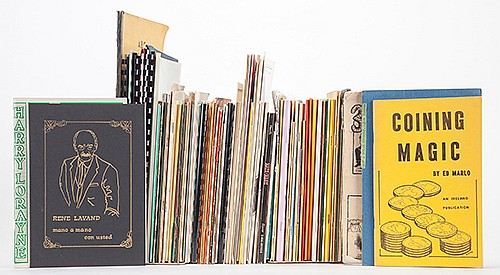 [Miscellaneous _ Booklets and Lecture Notes] Over 100 Conjuring Booklets. Bulk 1960s _ 80s. PublisherÍs wrappers. Including a concentration in coin magic, authors and magicians including Harry Lorayne, Jay Marshall, Don Alan, Lennart Green, Rene