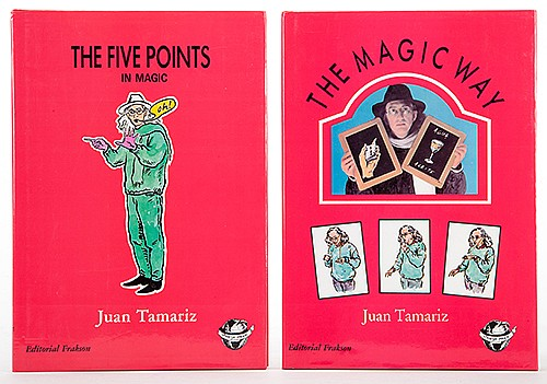 Tamariz, Juan. Pair of Two Books on Magic. Including The Five Points in Magic (Madrid, 1988) and The Magic Way (Madrid, 1988). English editions. Illustrated. 8vo. Near fine.