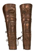 Pair of Charioteer Leg Guards Used in