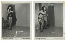Group of Four Bettie Page Black-and-White Photos.