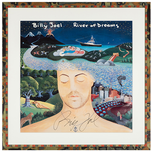 Billy Joel Autographed River of Dreams Lithograph.