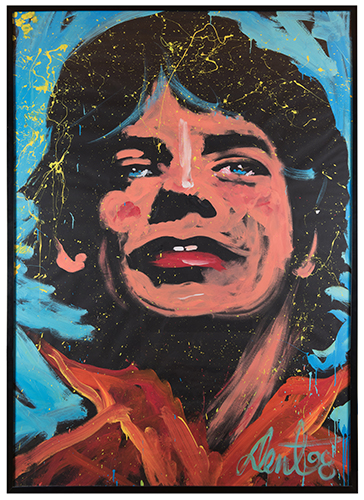 Stage-Sized Mick Jagger Portrait Painting.