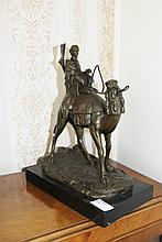 Bronze of A Camel And Rider 34cm x 26cm