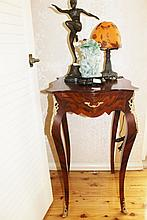 French Side Table With Centre Drawer & Ormolu H80cm X W46cm