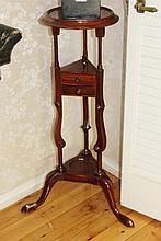 French Mahogany 2 Drawer Stand H91cm