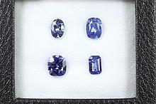 A loose parcel of mixed shape Blue Ceylon Sapphires totalling 3.38cts.
