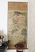 Chinese Scroll Decorated With Children