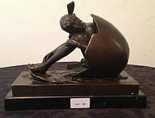 Sweet Innocence, Bronze sculpture after Brinoff H