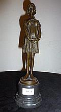 Amelia, bronze after Chiparus H34cm x W10cm