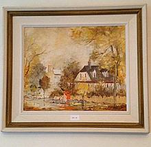 Wilmotte Williams Oil On Board Title Old Sydney