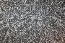 Patricia Kamara acrylic on canvas, Bush Medicine Leaves 2016 150x92cm