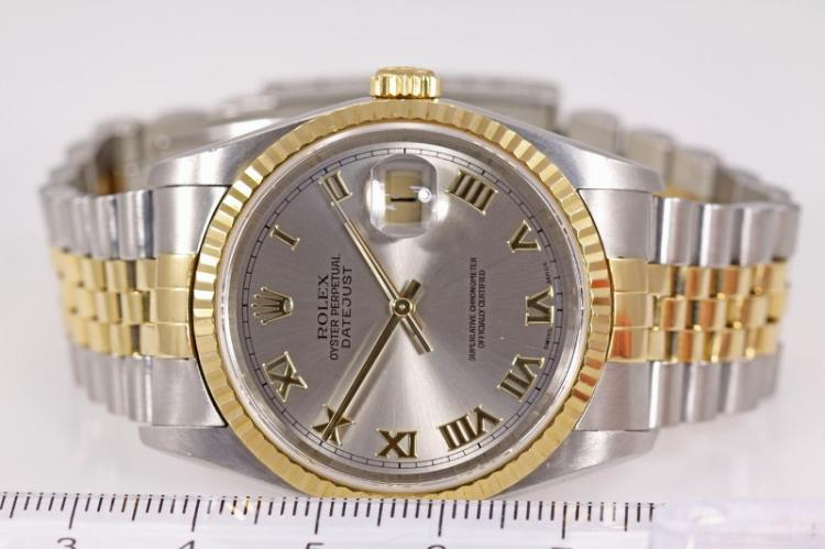 e6288708d3e Lot 88: Rolex Oyster Perpetual Datejust 18ct yellow gold and stainless steel  automatic mens watch