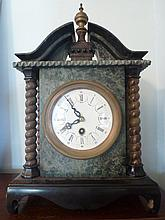 Bronze & Marble Mantel Clock