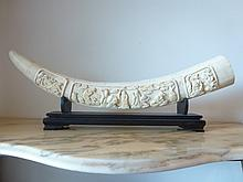 Hand carved Bone Tusk