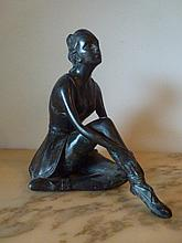 Bronze of a lady. 22 x 22cm