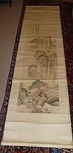 Chinese Scroll Decorated With Mountain Scene