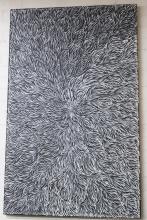 Patricia Kamara acrylic on canvas, Bush Medicine Leaves 2018 144cm x 90cm