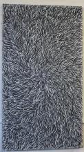 Patricia Kamara acrylic on canvas, Bush Medicine Leaf 143cm x 80cm