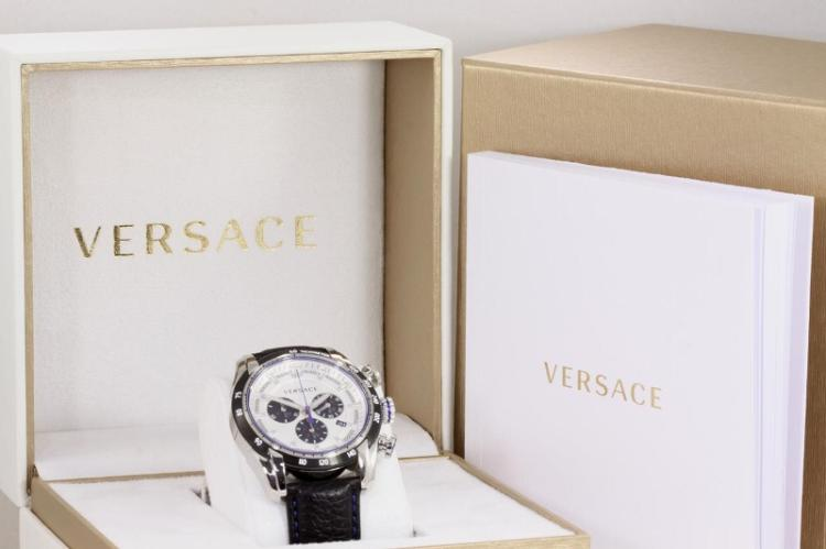 f35c6d80 Versace V-Ray stainless steel quartz mens watch. Silver colour ...