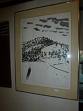 Limited Edition Lithograph Landscape David Rose