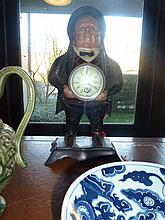 Big Man Clock With Moving Eyes Key At Front Desk