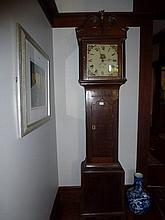 Georgian Grandfather Clock With Enamelled Roman