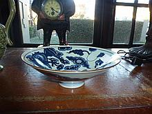 Chinese Blue & White Bowl Decorated With Dragons