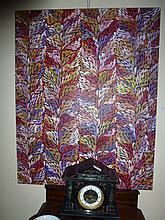 Mary Pitjara acrylic on canvas, Bush Tucker 93cm x