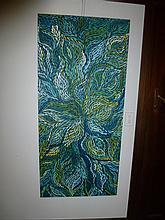Jeannie Pitjara acrylic on canvas, Bush Medicine