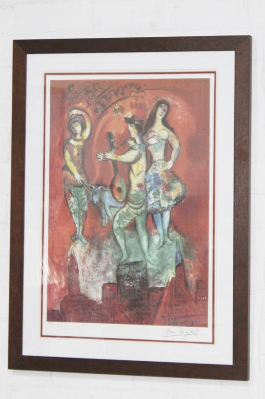 "MARC CHAGALL /""CARMEN/"" Facsimile Signed Limited Edition Lithograph Art"