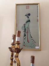 Chinese Embroidery Of A Lady Height 59cm Width