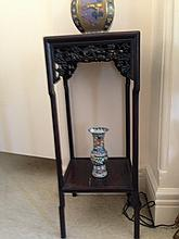 Chinese Century Two Tier Plant Stand Great
