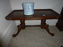 Georgian Style Mahogany Pie Crust Edge Side Table