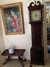 Beautiful Oak Cased Georgian Grand Father Clock