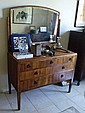 Edwardian Maple Dressing Table With Drawers And